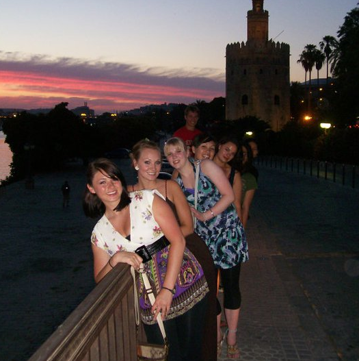 Students on a study abroad trip in Granada, Spain.