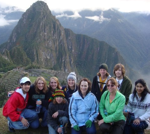 Students on a study abroad trip in Ecuador and Peru.